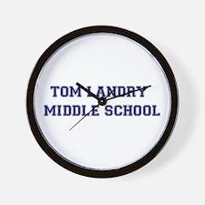 Tom Landry Middle School Wall Clock