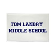 Tom Landry Middle School Rectangle Magnet