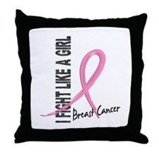 Licensed Fight Like a Girl 7.1 Throw Pillow
