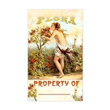 """Flora"" Beautiful Bookplate Sticker (Large 3""x5"")"