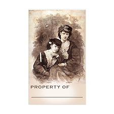 "Beautiful Victorian BookPlate (Large 3""x5"" Decal"