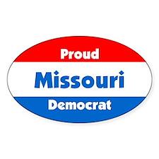 Proud Missouri Democrat Oval Decal