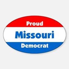 Proud Missouri Democrat Oval Decal