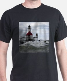 St. Joseph Lighthouse Black T-Shirt
