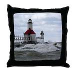 St. Joseph Lighthouse Throw Pillow