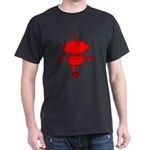 Red Rolobot Black T-Shirt