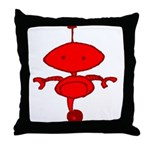 Red Rolobot Throw Pillow