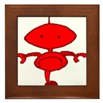 Red Rolobot Framed Tile