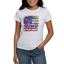 Cool Back logo Women's Plus Size V-Neck Dark T-Shirt