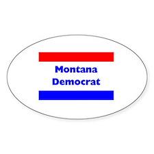 Montana Democrat Oval Decal