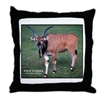 Eland Antelope Photo Throw Pillow