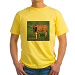 Eland Antelope Photo (Front) Yellow T-Shirt