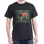 Eland Antelope Photo (Front) Black T-Shirt