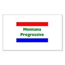 Montana Progressive Rectangle Decal