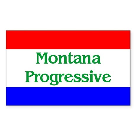 Montana Progressive Rectangle Sticker