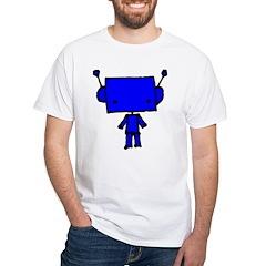blue robobud, black Shirt