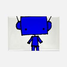 blue robobud, black Rectangle Magnet
