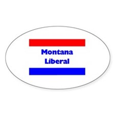 Montana Liberal Oval Decal