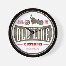 OLD LINE CUSTOMS Wall Clock
