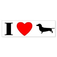 I Love Dachshunds Bumper Bumper Sticker