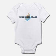 Long Beach Island NJ - Seashells Design Infant Bod