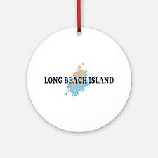 Long Beach Island NJ - Seashells Design Ornament (