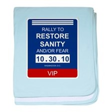 Funny Rally to restore sanity baby blanket