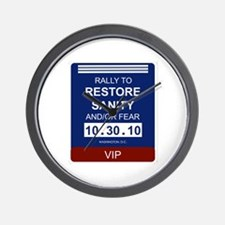 Unique Rally to restore sanity Wall Clock