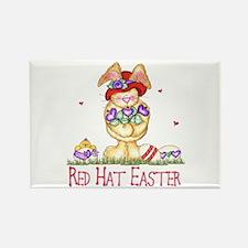 Red Hat Easter Rectangle Magnet