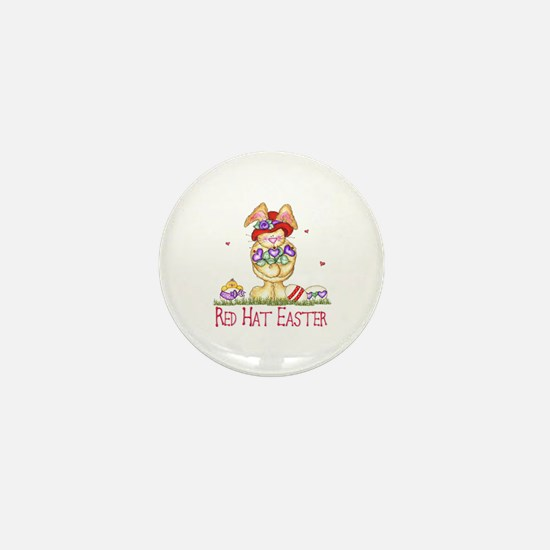 Red Hat Easter Mini Button