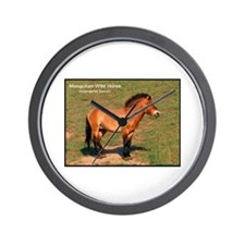 Mongolian Wild Horse Photo Wall Clock