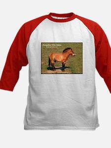 Mongolian Wild Horse Photo (Front) Kids Baseball J