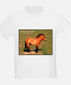 Mongolian Wild Horse Photo (Front) Kids T-Shirt