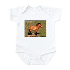 Mongolian Wild Horse Photo Infant Creeper