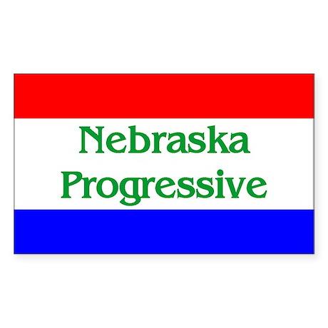 Nebraska Progressive Rectangle Sticker