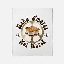 Make Smores Not Wars Throw Blanket