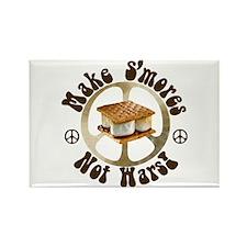 Make Smores Not Wars Rectangle Magnet