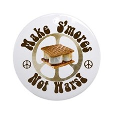 Make Smores Not Wars Ornament (Round)