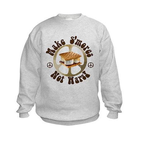 Make Smores Not Wars Kids Sweatshirt