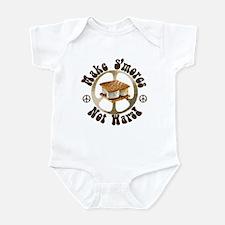 Make Smores Not Wars Infant Bodysuit