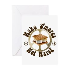 Make Smores Not Wars Greeting Card