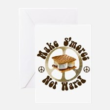Make Smores Not Wars Greeting Card