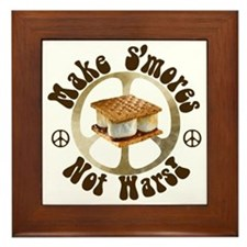 Make Smores Not Wars Framed Tile