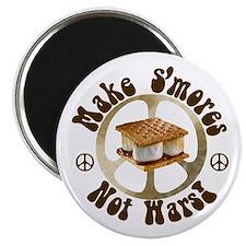 """Make Smores Not Wars 2.25"""" Magnet (10 pack)"""