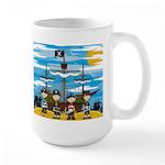 Cute Pirates on the Beach Large Coffee Mug