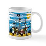Cute Pirate on the Beach Scene Coffee Mug