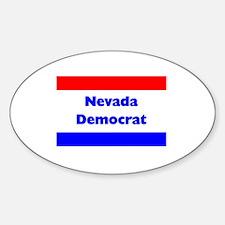 Nevada Democrat Oval Decal