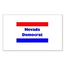 Nevada Democrat Rectangle Decal