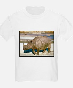 Indian One-Horned Rhino Photo (Front) Kids T-Shirt