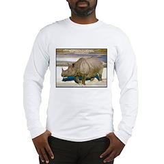Indian One-Horned Rhino Photo Long Sleeve T-Shirt